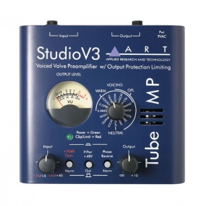 Tube Mic Preamp With Variable Valve Voicing ART TUBEMPSV3
