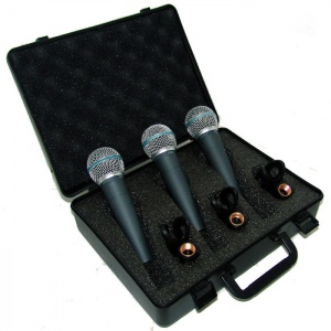 Pack de Microfonos Dinamicos Moon M59PACK
