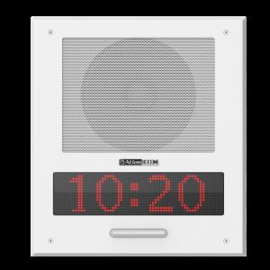 Parlante IP para embutir PoE+ con pantalla LED, micrófono y luces LED Atlas Sound I8SCMF+