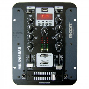 Mixer con Usb Pantalla y Bt Moon MDJ206USB
