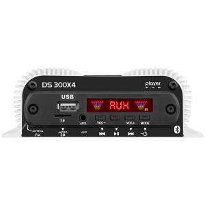 Amplificador Digital Rango Completo 4 Canales con Reproductor BT Taramps DS300X4
