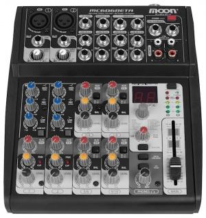 Mixer 6 Canales Inc. Fuente Moon MC606BETA